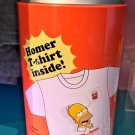 Universal Studios The Simpsons Homer T-Shirt Inside Can Container Size X-Large