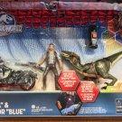 "Universal Studios Jurassic World Owen ""Alpha"" & Velocuraotir ""Blue"" Figure New"