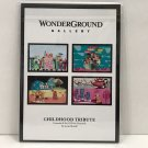 Disney WonderGround Small World Childhood Tribute Postcard Set by McBiff New