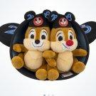 "Disney Parks 2018 Chip N' Dale Ear Hat Plush Set 6"" New"