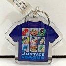 Six Flags Magic Mountain Dc Comics Justice League Shirt Shaped Keychain New