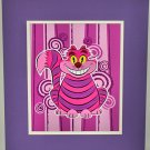 Disney WonderGround Gallery Daniel Hanke Sly Cheshire Cat Deluxe Print New
