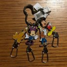 Disney Parks Fab 4 Mickey Minnie Goofy and Pluto Dangling Keychain New