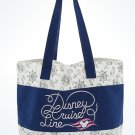 Disney Cruise Line Sailor Minnie Mouse Large Canvas Tote Bag New