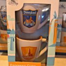 DISNEYLAND RESORT DISNEY CALIFORNIA ADVENTURE ESPRESSO CUPS SET OF 2 NEW IN BOX
