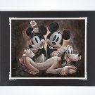 Disney Parks Mickey & Pluto Homage to Yesteryear Deluxe Print by Darren Wilson