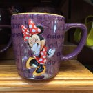 Disney Parks Exclusive Minnie Mouse Purple Ceramic Mug Cup New