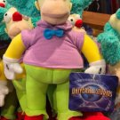 "Universal Studios The Simpsons Krusty The Clown 9"" Plush Doll New"