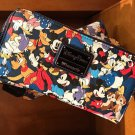 Disney Parks Exclusive Loungefly Mickey Mouse and Friends Clutch Wallet New