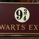 Universal Studios Wizarding World Harry Potter Hogwarts Express Wood Plaque Sign