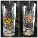 Universal Studio Wizarding World Harry Potter Hogwarts Crest Glass Cup Set of 2