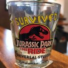 Universal Studios Exclusive I Survived Jurassic Park The Ride Shot Glass New