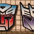 Universal Studios Transformers Retro Logo Autobots & Decepticons Magnet Set New
