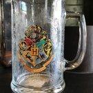 Universal Studio Exclusive Harry Potter Hogwarts Crest Stain Glass Mug New