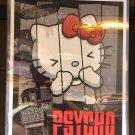"Universal Studios Hello Kitty Psycho Bates Motel Poster Art Print 14"" X 11"" New"