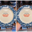 DISNEY PARKS PETER PAN JUST THINK OF WONDERFUL THOUGHT PLATE NEVER LAND SET