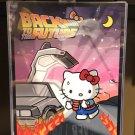 "Universal Studios Hello Kitty Back To The Future Poster Art Print 14"" X 11"" New"