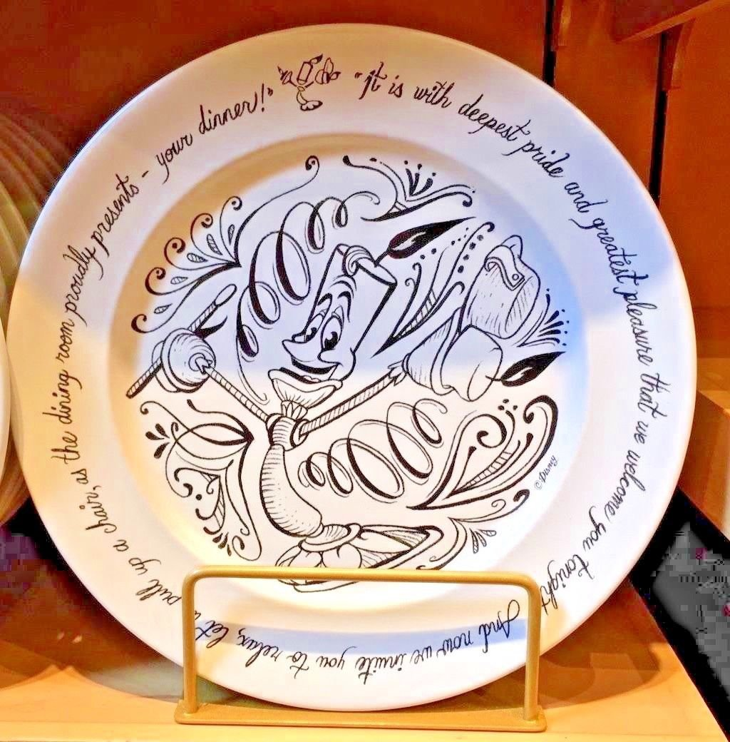 Disney Parks Chalkboard Be Our Guest Ceramic Dinner Plate
