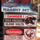 Universal Studios Exclusive Jurassic World High Voltage & Warning Magnet Set New