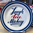 Disney Parks Mickey Mouse American Legend Laugh Love Mickey Single Plate New