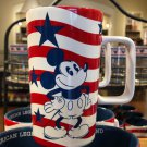 Disney Parks Exclusive Mickey Mouse American Legend Tall Ceramic Cup Mug New