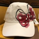 Disney Parks Minnie Mouse Bow and Signature Adjustable Hat Cap New