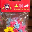Disney Parks Pin Backs 12 Per Pack Princess Crown Minnie Mouse Bow Slipper New