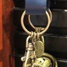 Universal Studios Exclusive Universal Globe Gold Finish Keychain New