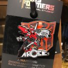 Universal Studios Exclusive Transformers Arcee Metal Trading Pin New