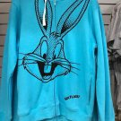 Six Flags Magic Mountain Looney Tunes Bugs Bunny Zipper Hoodie Sweater Small New