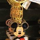 Disney Parks Mickey Mouse Gold Trim Keychain Keyring New