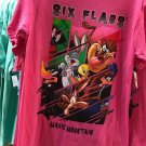 Six Flags Magic Mountain Looney Tunes Mulit Character Womens Shirt Small New