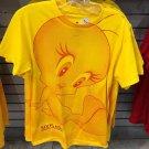 Six Flags Magic Mountain Looney Tunes Sun Flower Tweety Bird Womens Shirt Medium