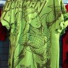Six Flags Magic Mountain DC Comics Aquaman Green Shirt Size Small New