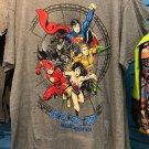 Six Flags Magic Mountain 2018 DC Comics Justice League Gray Shirt Size XX-Large