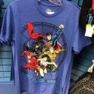 Six Flags Magic Mountain 2018 DC Comics Justice League Blue Shirt Size Medium