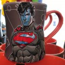 Six Flags Magic Mountain Dc Comics Superman Rubberized Color Mug New