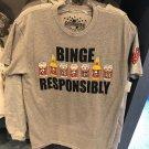 Universal Studios The Simpson Duff Beer Binge Responsibly Mens Shirt Small New