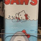 Universal Studios Loungefly Hello Kitty & Jaws  Zippered Wallet New With Tag