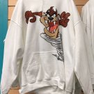 Six Flags Magic Mountain Looney Tunes Tasmanian Devil Taz White Hoodie XX-Large