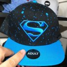 Six Flags Magic Mountain Dc Comics Superman Paint Splattered Snapback Hat New