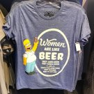 Universal Studios The Simpsons Homer Women Are Like Beer Mens Shirt Large New