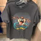 Six Flags Magic Mountain Looney Tunes Tasmanian Devil Taz Gray Shirt Small New