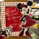 Disney Parks Minnie Mouse Be Kind Sweet Minnie Magnet Photo Frame New