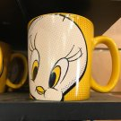 Six Flags Magic Mountain Looney Tunes Tweety Bird Halftone Ceramic Mug