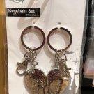 Disney Park Minnie Mouse Keychain Set 2 Keychains New with Tag