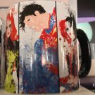 Six Flags Magic Mountain Superman Poison Ivy Harley Quinn Joker Splatter Mug New