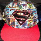 Six Flags Magic Mountain Dc Comics Superman Comic Strip Snapback Hat New