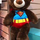 "Six Flags Magic Mountain DC Comics Superman Teddy Bear Plush 16"" New with Tag"