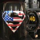 Six Flags Magic Mountain Superman American Made Ceramic Mug New